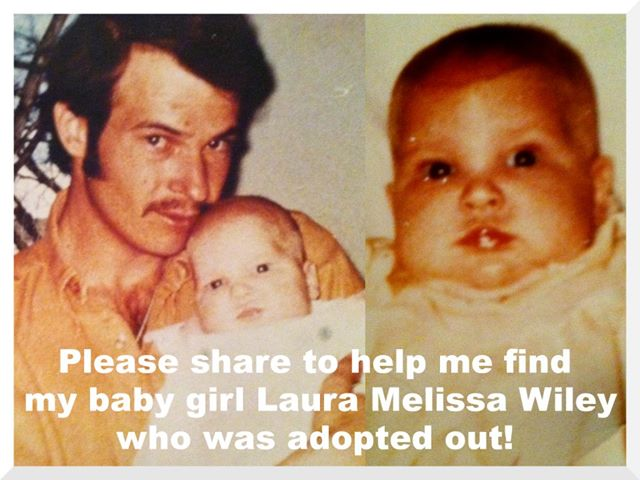 """And sir, who are you, where are you, how do we know that's your girl, why was she adopted out if it is  your girl, how are we supposed to contact  you if we do find this baby from this very old picture...?"" And why are you sharing this??"