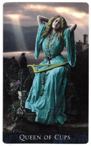 Queen of Cups scan The Bohemian Gothic Tarot