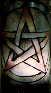 Pentacle altar candle